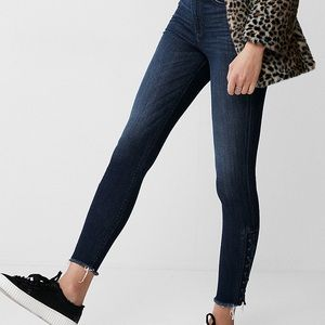 Express Super High Rise Lace Up Jeans